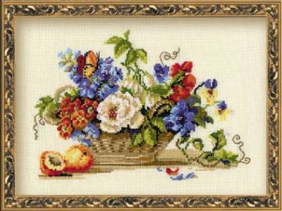 вышивка крестом схемы цветы на