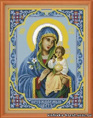 вышивка крестом иконы схемы