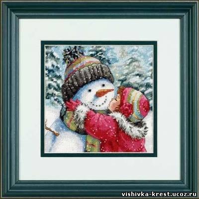 Поцелуй для снеговика.